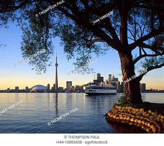 Skyline and Islands Ferry, Toronto, Ontario, Canada