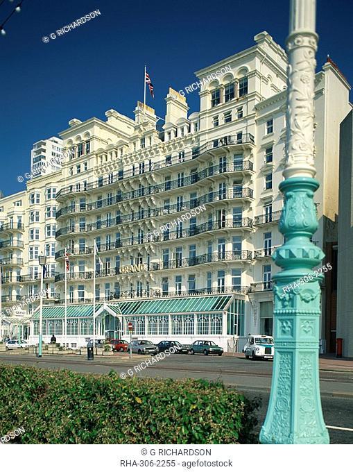 The Grand Hotel, Brighton, Sussex, England, United Kingdom, Europe