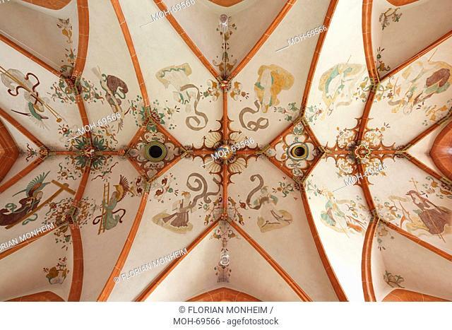 Inselkirche, Gewölbe über der Nonnenempore