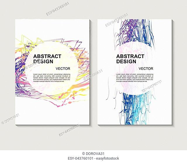 The abstract colorful background. It can be used for posters, cards, flyers, brochures, magazines and any kind of cover. EPS 10. Vector