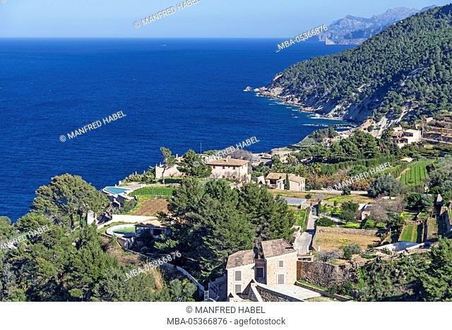 Coastal landscape at Banyalbufar, island Majorca