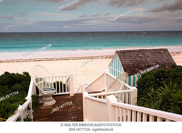 Bahamas, Eleuthera Island, Harbour Island, Pink Sands Beach, dusk