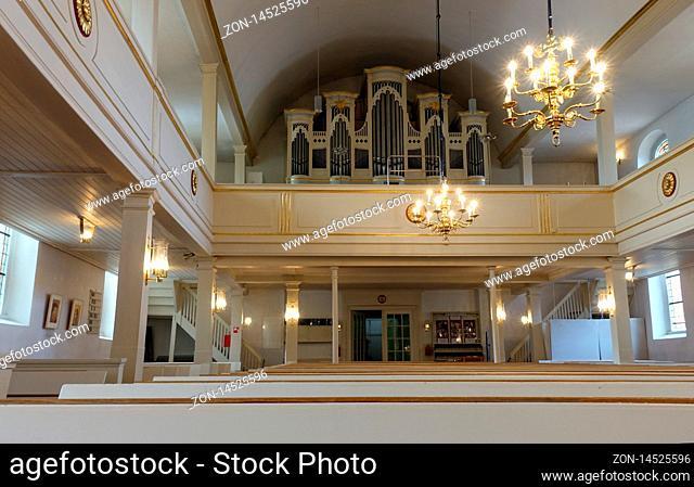 Innenaufnahme der evangelischen Dreikönigskirche, Bad Bevensen, Niedersachsen, Deutschland