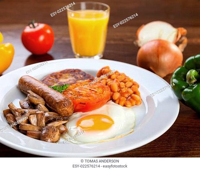 English vegetarian breakfast