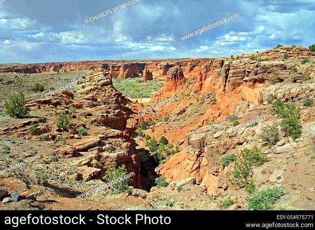 Some of Canyon de Chelly National Monument on the Navajo Reservation in northern Arizona