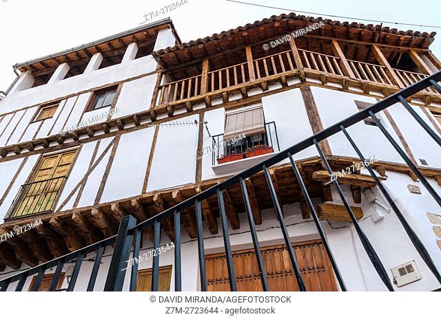 Traditional architecture, Enguídanos. Cuenca province, Castile la Mancha, Spain