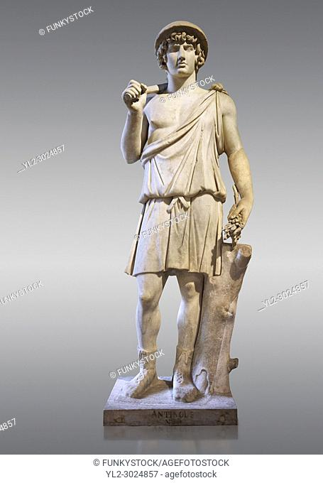 Statue known as Antonius as Aristaeus. Antinous was the young Bithynian favoured by the emperor Hadrian who was deified after drowning under mysterious...