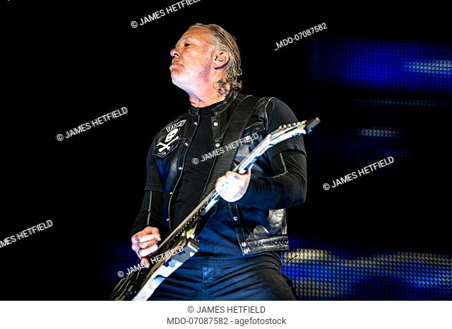 American rock band Metallica performs live on stage at Milano Summer Festival for their WorldWired tour. Milan (Italy), May 8th, 2019