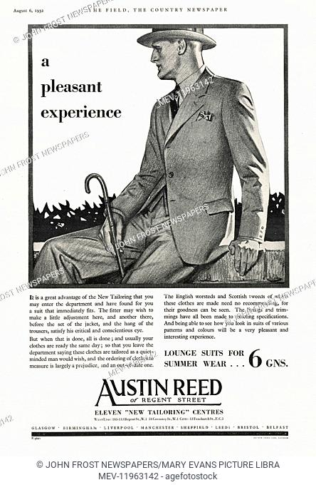 Advertisement For Austin Reed Stock Photos And Images Agefotostock