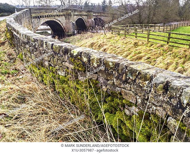 Bridge over the River Nidd in Hampsthwaite Nidderdale North Yorkshire England