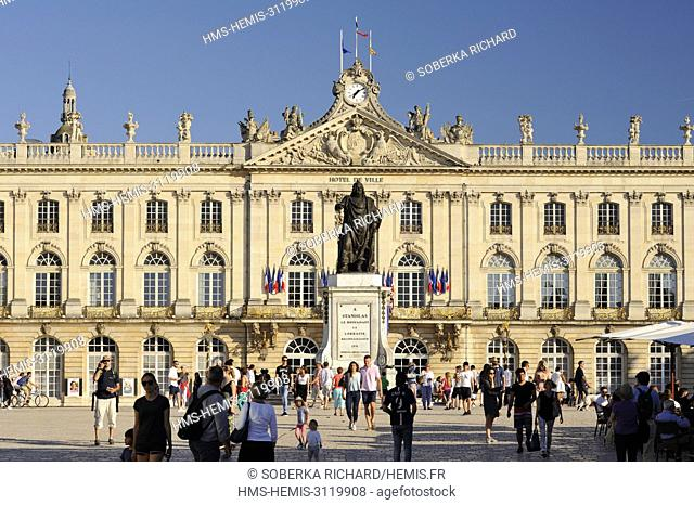 France, Meurthe et Moselle, Place Stanislas (former Royal Square), built by Stanislas Leszczynski, king of Poland and last Duke of Lorraine in the 18th century