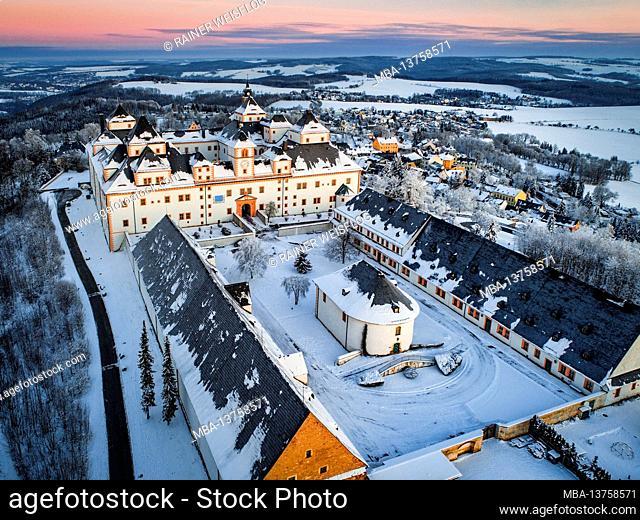 Augustusburg Castle in winter