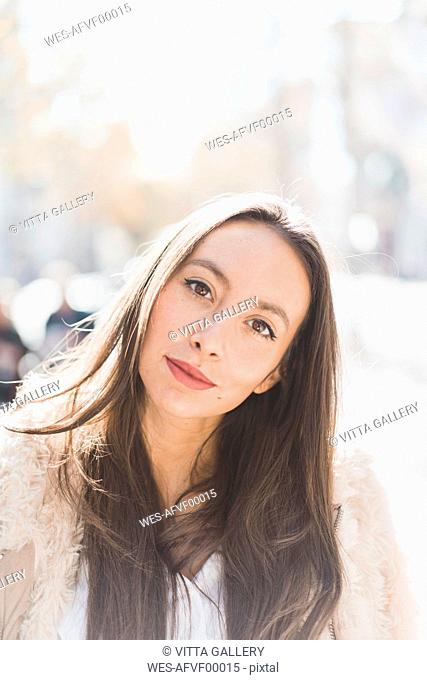 Portrait brunette young woman