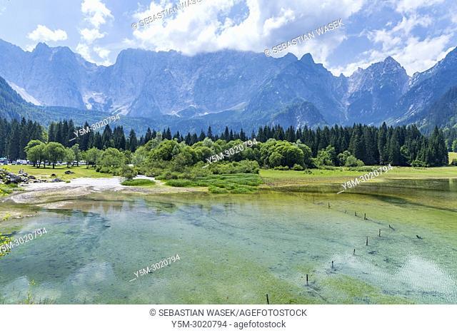 Lago di Fusine Superiore, Julian Alps, Friuli-Venezia Giulia, Province of Udine, Italy, Europe