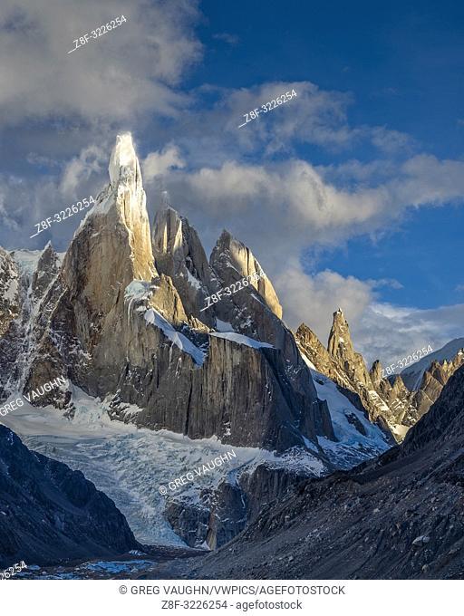 Cerro Torre from Laguna Torre in Parque Nacional Los Glaciares near El Chaltén, Patagonia, Argentina