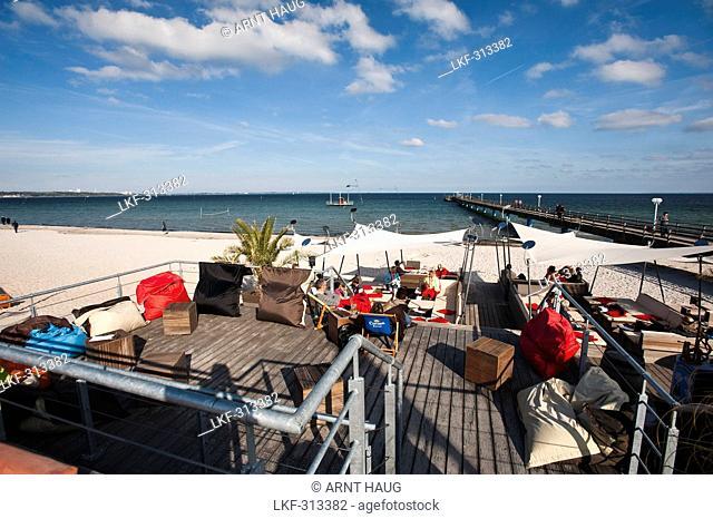 Beach promenade, Scharbeutz, Schleswig-Holstein, Germany