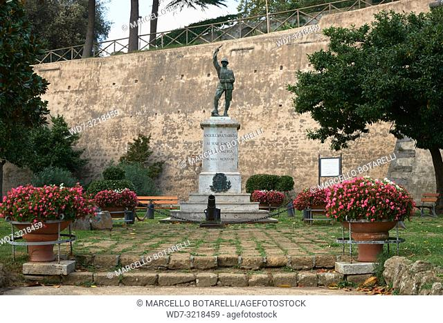 monument to the fallen in Anguillara Sabazia, a small town in Lazio, near Rome, Italy