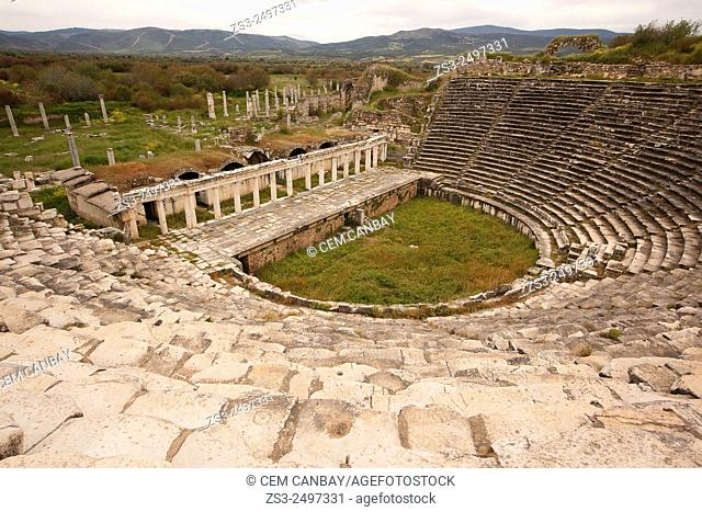 Ancient theater of Aphrodisias, Aydin Province, Aegean Coast, Turkey, Europe