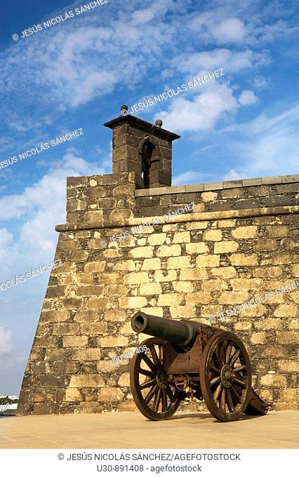 Castle of San Gabriel, in Arrecife, the capital of the Lanzarote Island  Las Palmas province  Canary Islands  Spain