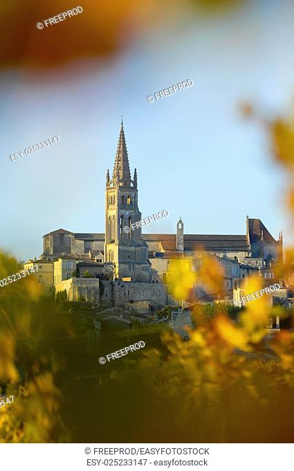 Saint-Emilion UNESCO World Heritage site in France, Europe
