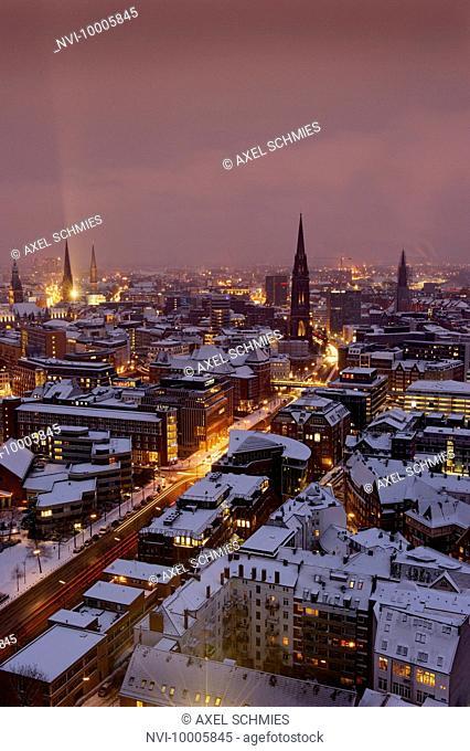 Skyline of Hamburg, Germany