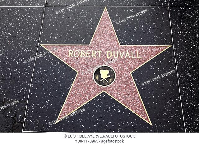 Robert Duvall in the Walk of Fame, Hollywood, California, USA
