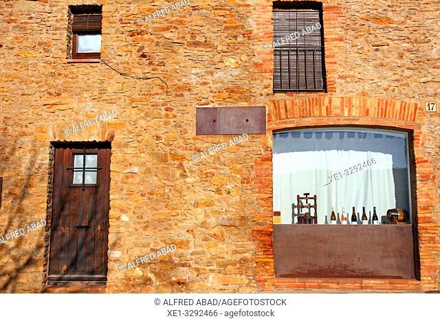 housing facade, Sant Julià de Boada, Palau-Sator, Baix Empordà, Girona, Catalonia, Spain