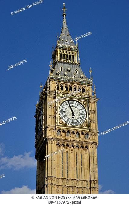 Big Ben clock tower, London, England, United Kingdom