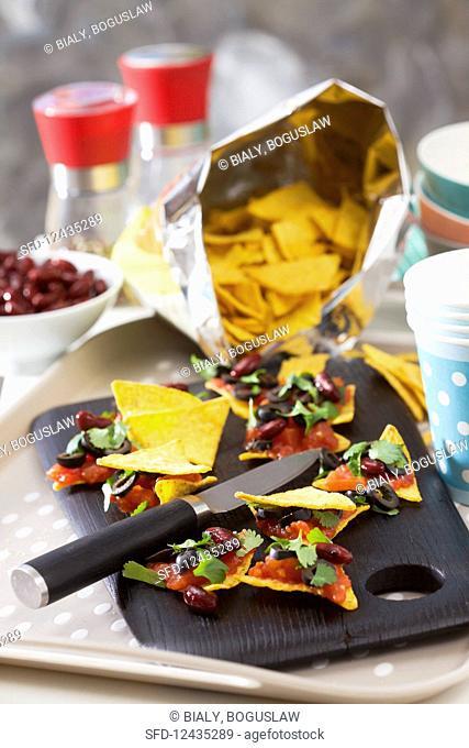 Snacks with nachos