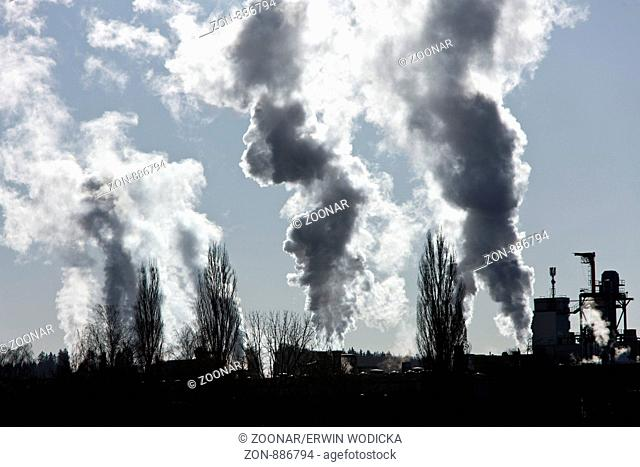 Environmental pollution by industrial emissions