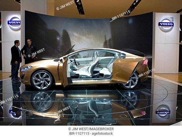 The Volvo S60 concept car on display at the North American International Auto Show, Detroit, Michigan, USA