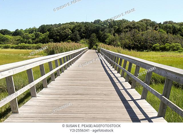 Boardwalk, Cape Cod National Seashore, Eastham, Massachusetts, United States, North America