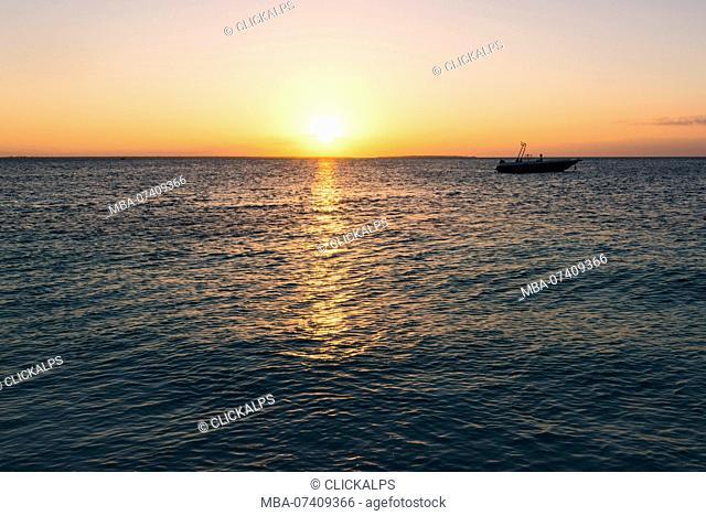 East Africa, Tanzania, Zanzibar, sunset on kendwa beach