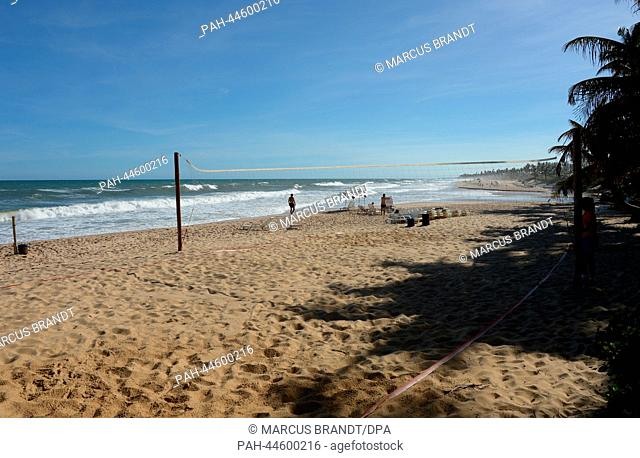A general view of the beach in Costa do Sauipe, Brazil, 03 December 2013. The final draw for the preliminary round groups of the 2014 FIFA world cup Brazil will...