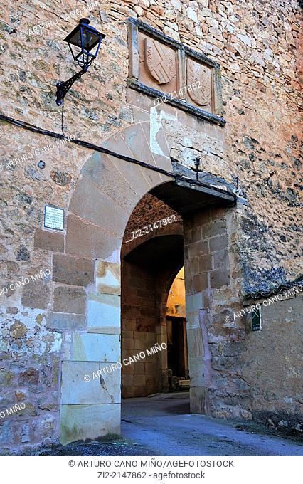 Gate in the wall -XVth century- .Palazuelos, Guadalajara, Spain