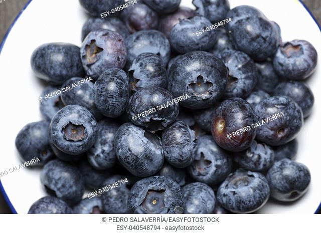 Close up of a blueberries group