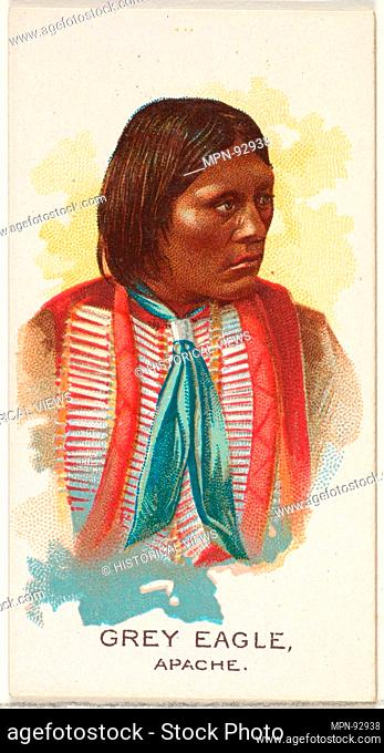Grey Eagle, Apache, from the American Indian Chiefs series (N2) for Allen & Ginter Cigarettes Brands. Publisher: Issued by Allen & Ginter (American, Richmond