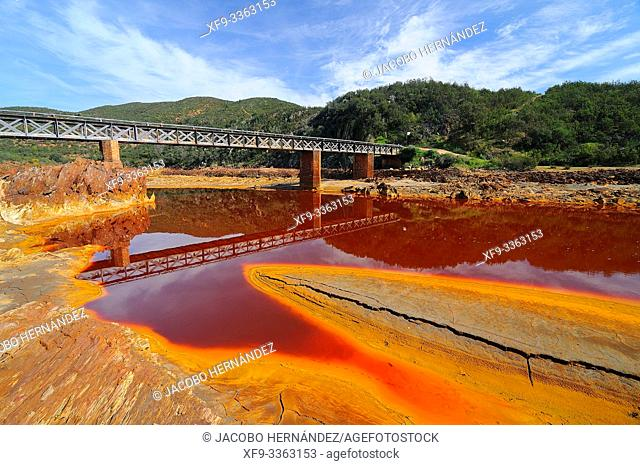 Tinto River. Huelva province. Andalusia. Spain