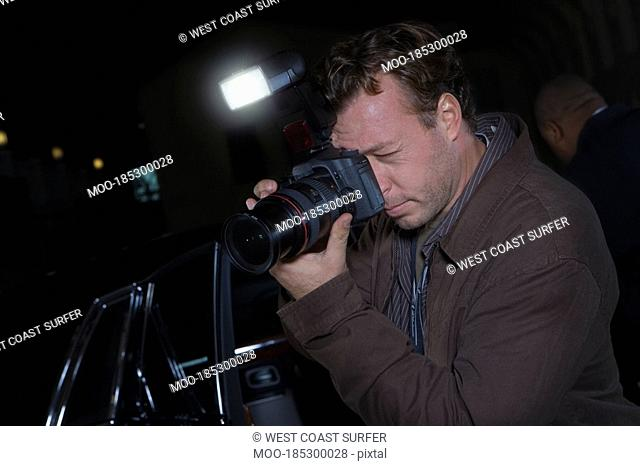Photographer at media event