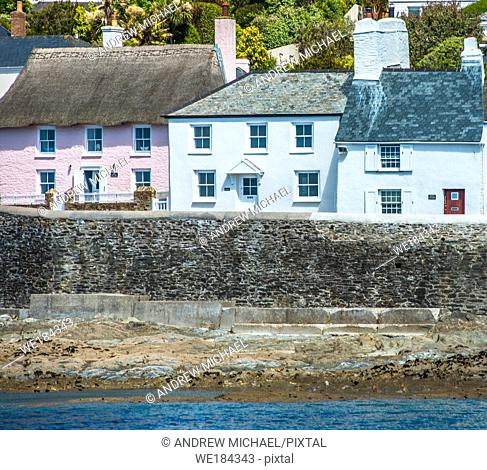 The picturesque village of St Mawes on the Roseland Peninsula near Falmouth in Cornwall, England, UK