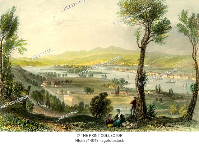 'View from Mount Ida (Near Troy)', c1839. Creator: H Wallis