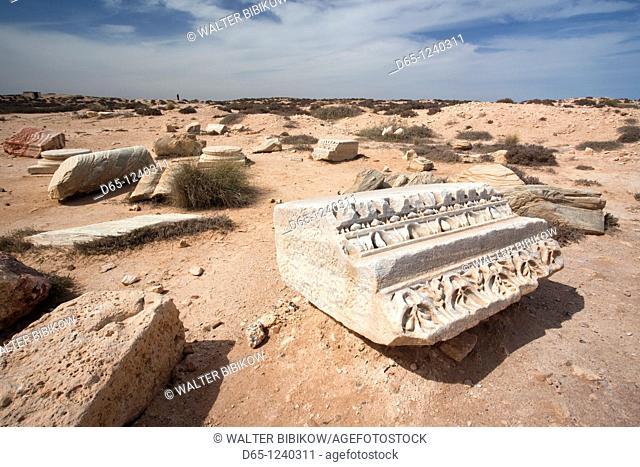 Tunisia, Jerba Island, Meninx, ruins of Roman-era trading post