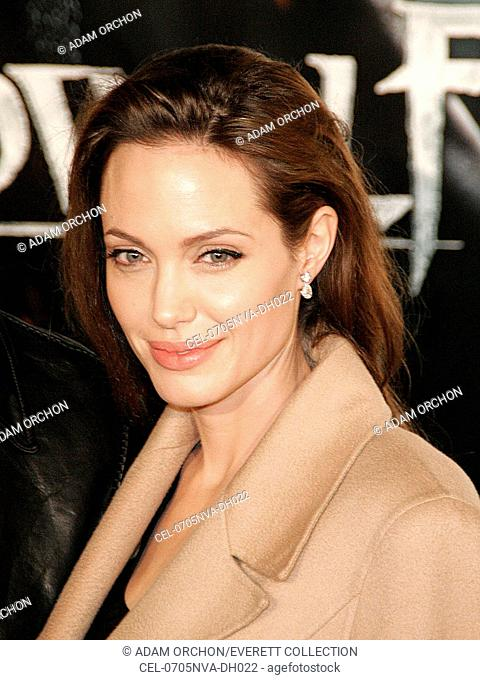 Angelina jolie arrival beowulf Stock Photos and Images | age