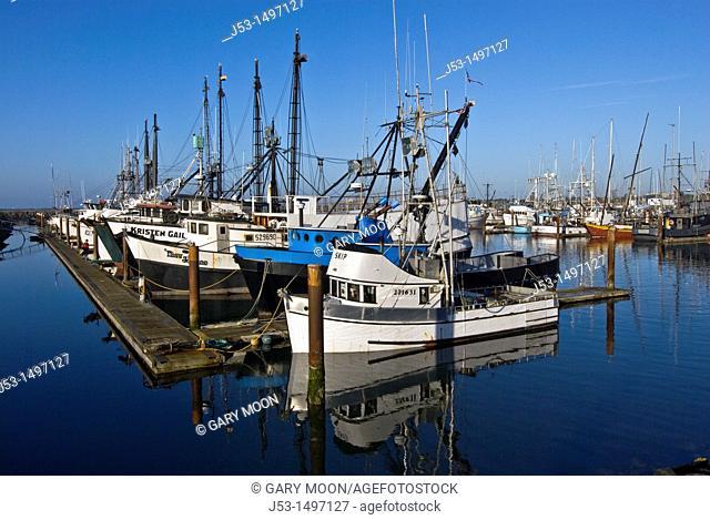 Commercial fishing boat harbor, Crescent City, California, before March 11, 2011 tsunami