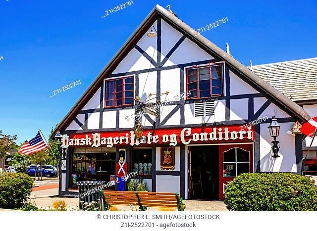 Dansk Bageri kafe og Conditori - Bakery & Cafe in the Danish-styled fairytale village of Solvang in the Santa Ynez valley of California