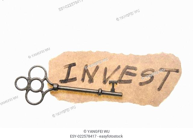 Old key and invest word