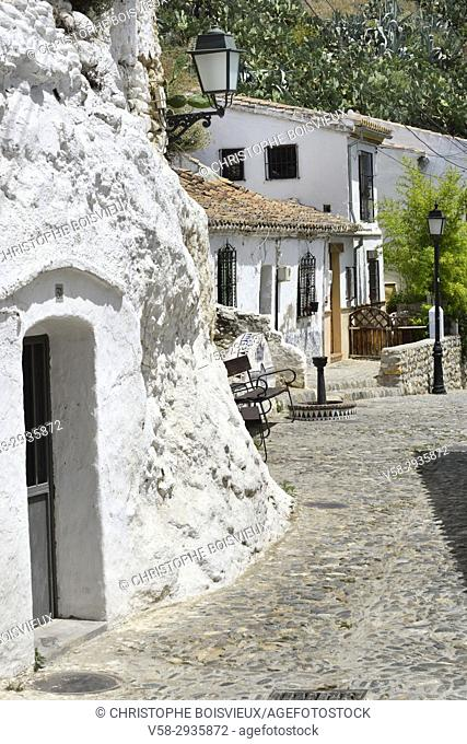 Spain, Andalusia, Granada, World Heritage Site, Sacromonte district, Cave entrance