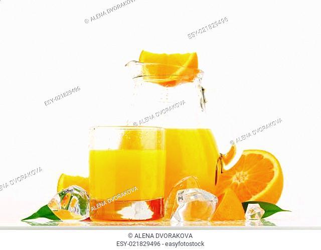 Jug of orange juice