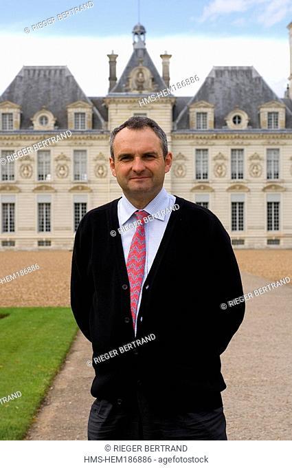 France, Loir et Cher, Chateau de Cheverny, Mr Charles Antoine de Vibraye the owner