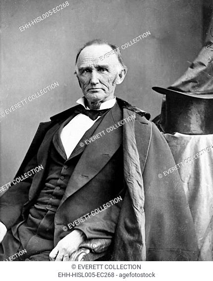 Montgomery Blair (1813-1883) was among the founders of the Republican Party in the 1850's and campaigned for Lincoln in 1860